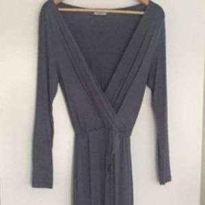 Grey Maxi Wrap Dress